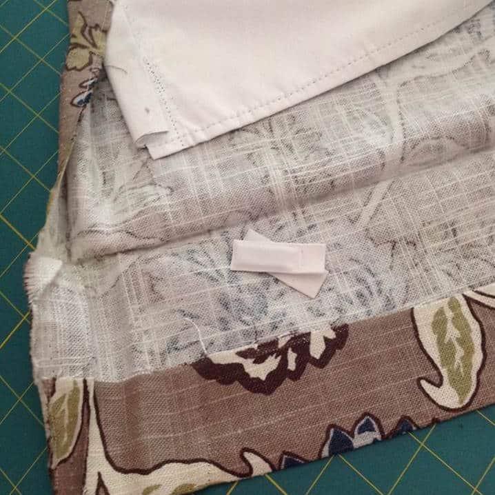 hem curtains step 2