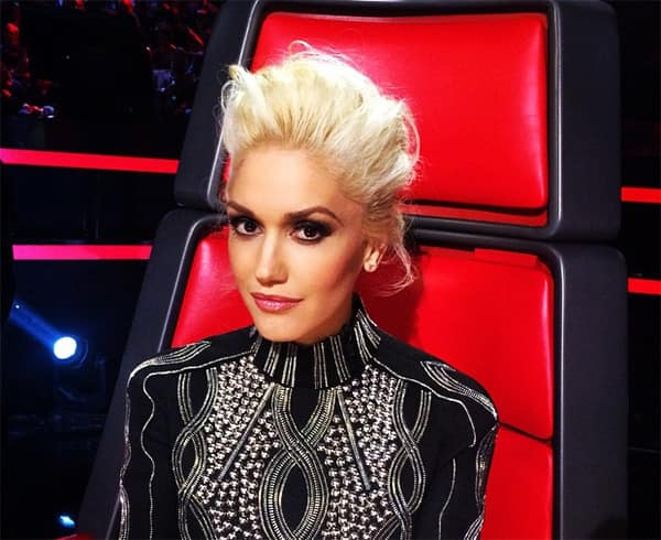 Gwen Stefani updo on The Voice