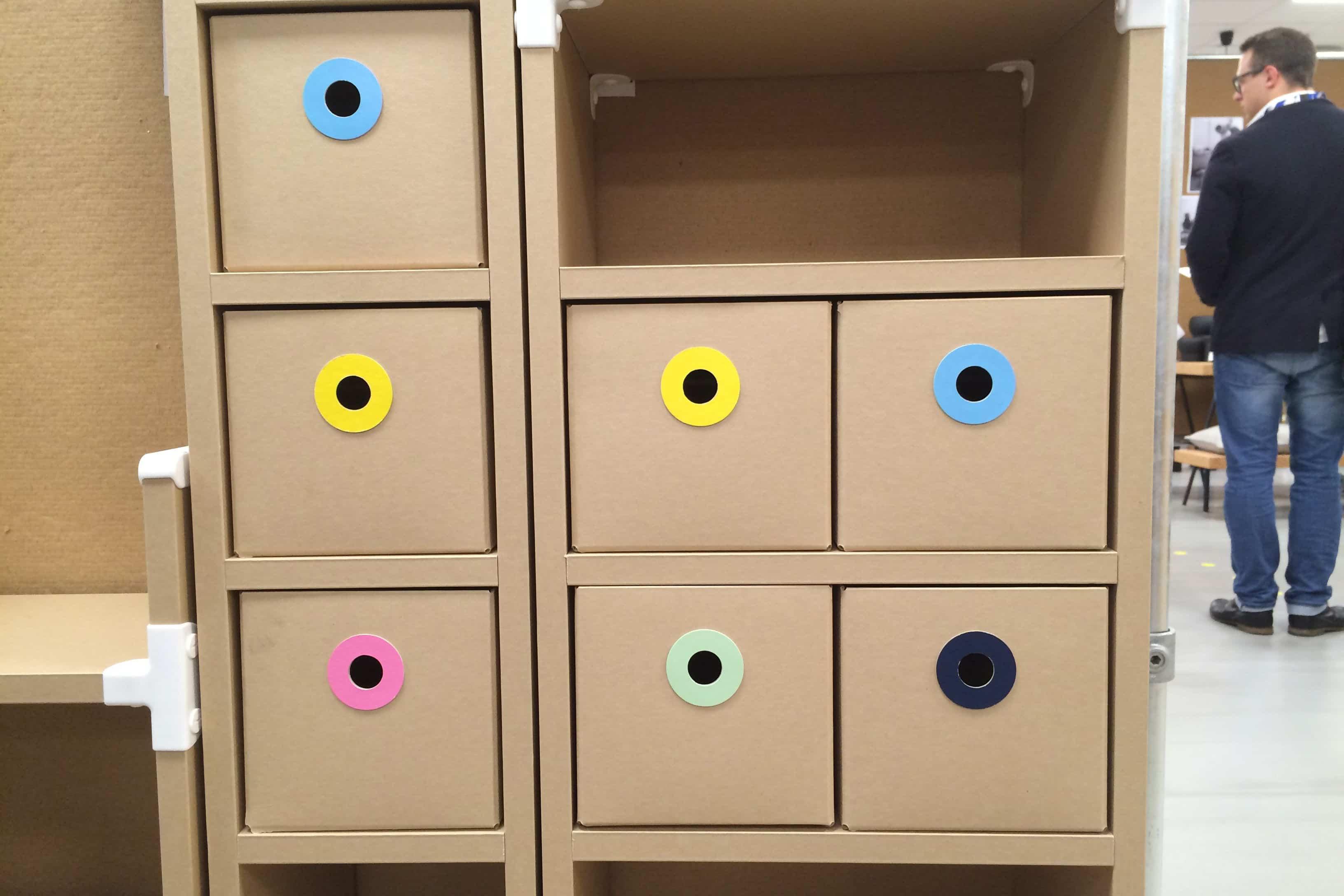 ikea paper bookshelf