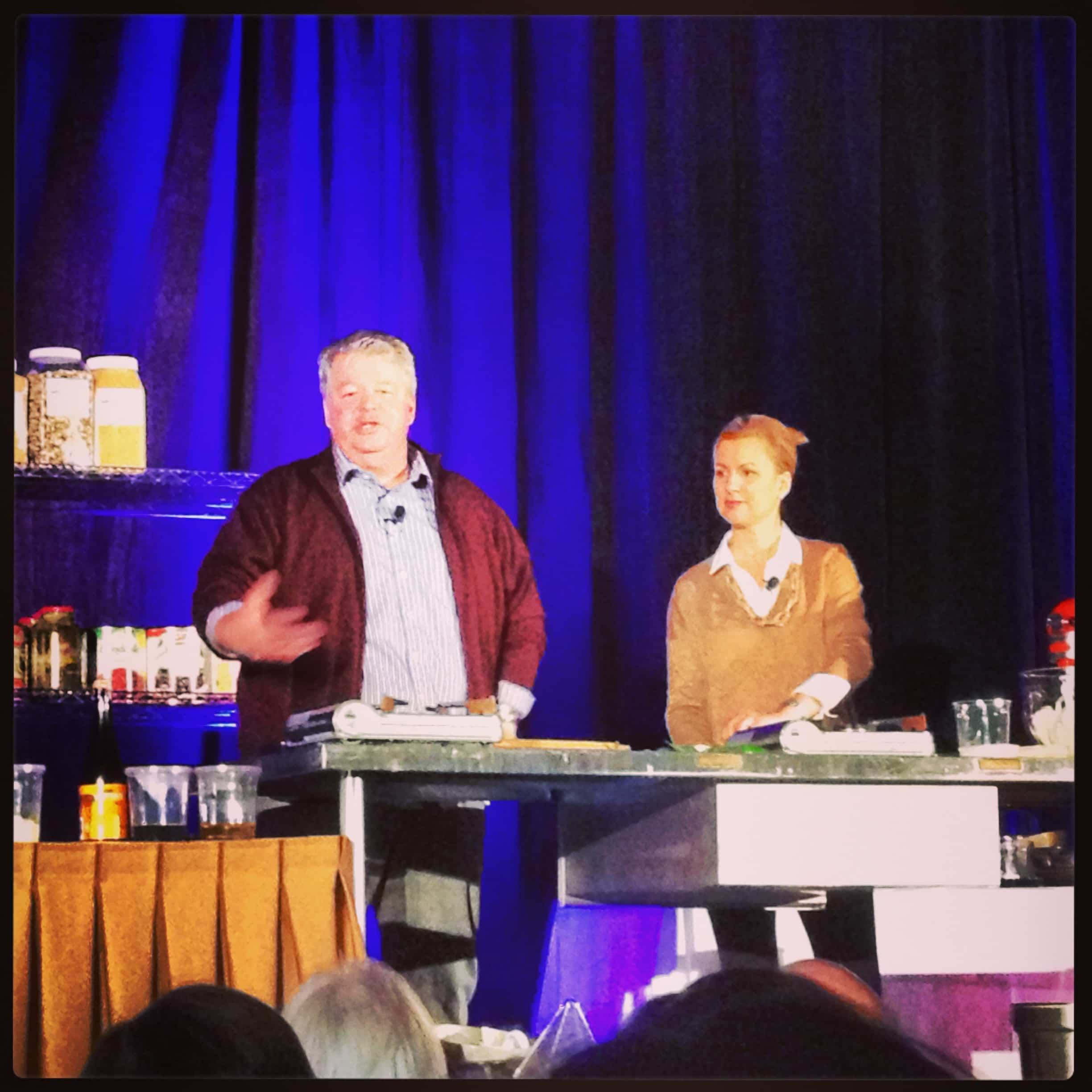 Chefs Michael and Anna Olson cooking demonstration