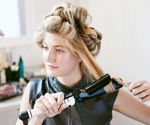 Curling hair and pinning