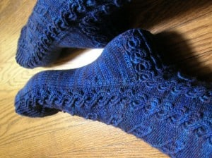 Glenna's Viper Pilots socks - a perfect Battlestar Galactica tribute.