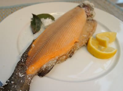 Bay Leaf and Salt-Baked Trout