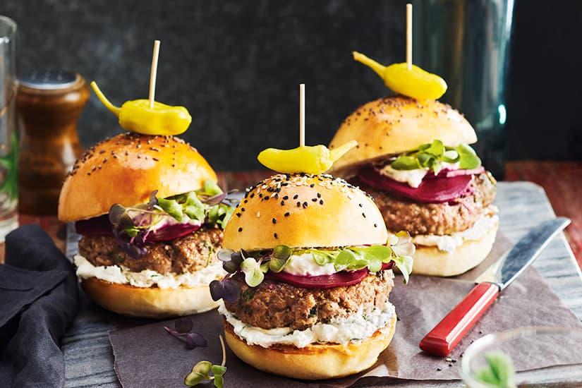 Lamb Feta Burgers
