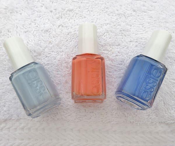 Essie nail polishes needed for brushstroke nail art