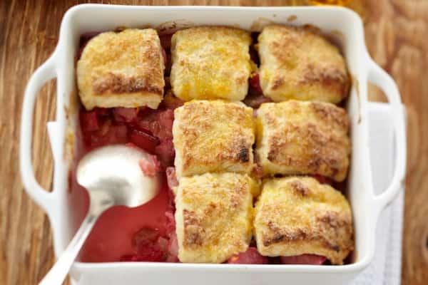 Honey rhubarb cobbler - 6 delicious rhubarb recipes for spring