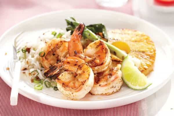 shrimp coocnut rice