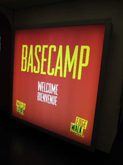 Basecamp: the beginning of your EdgeWalk experience.