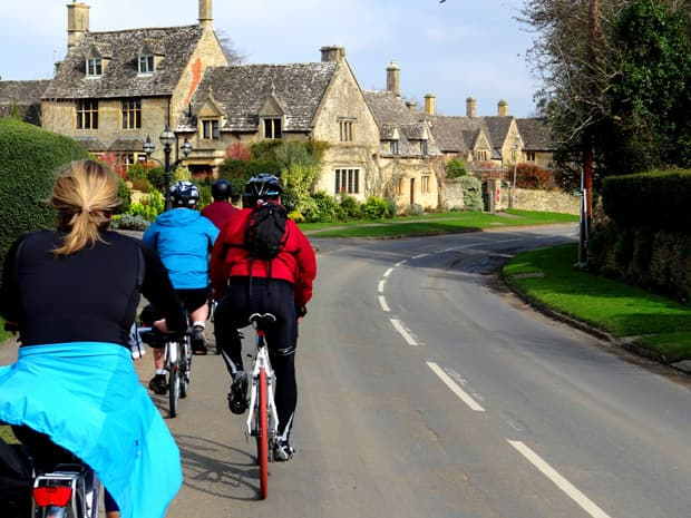 Cycling through Cotswolds