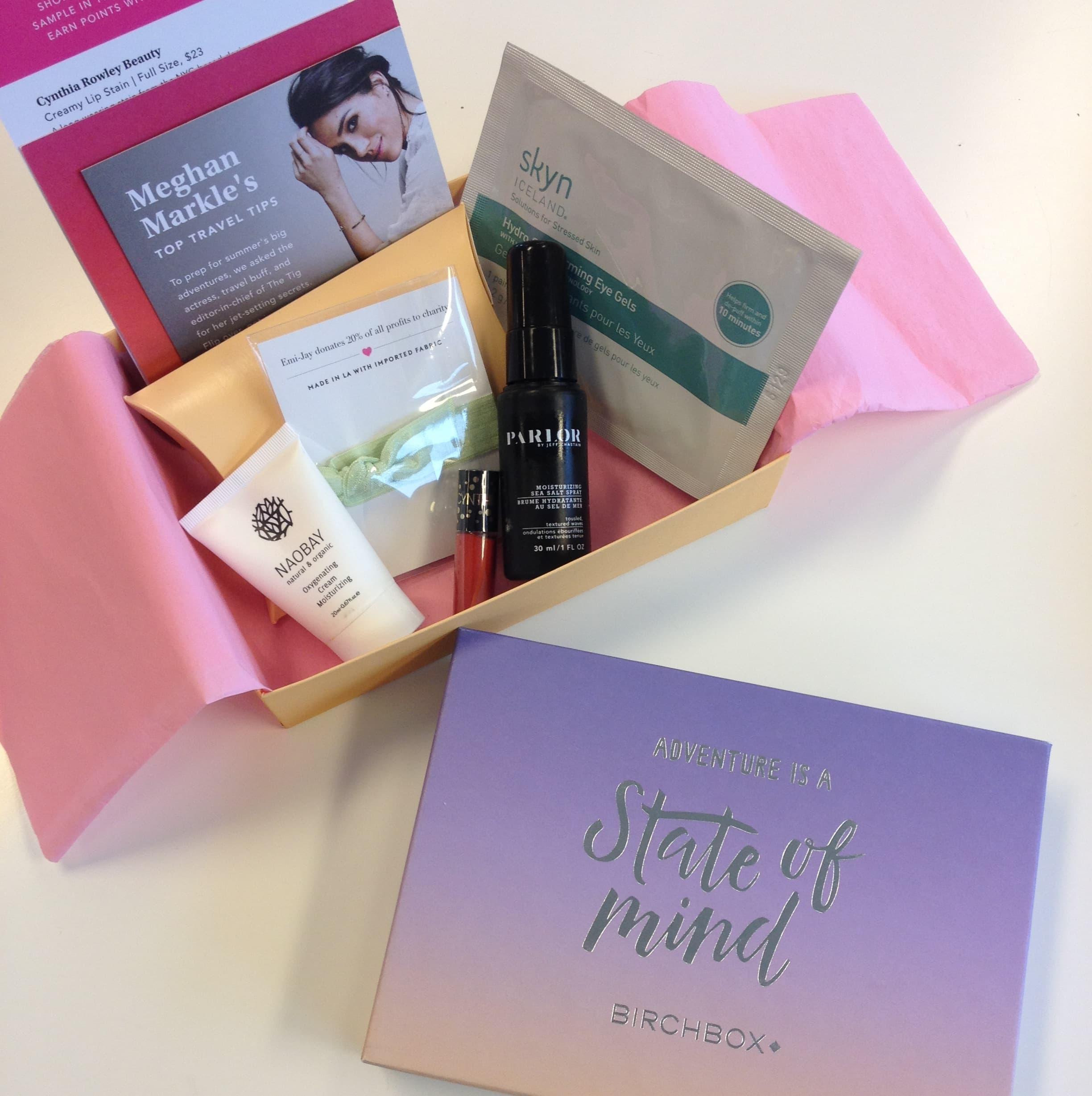 Meghan Markle's Birchbox travel box