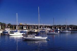 VIA Rail chugs through picturesque Port Hope, Ontario (Courtesy: VIA RAIL)