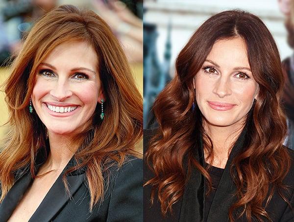 Julia Roberts hair colour transformation