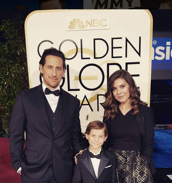 Jacob Tremblay with his parents
