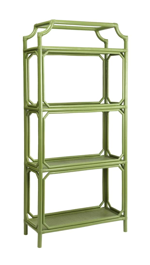 green shelving unit etagere bookcase