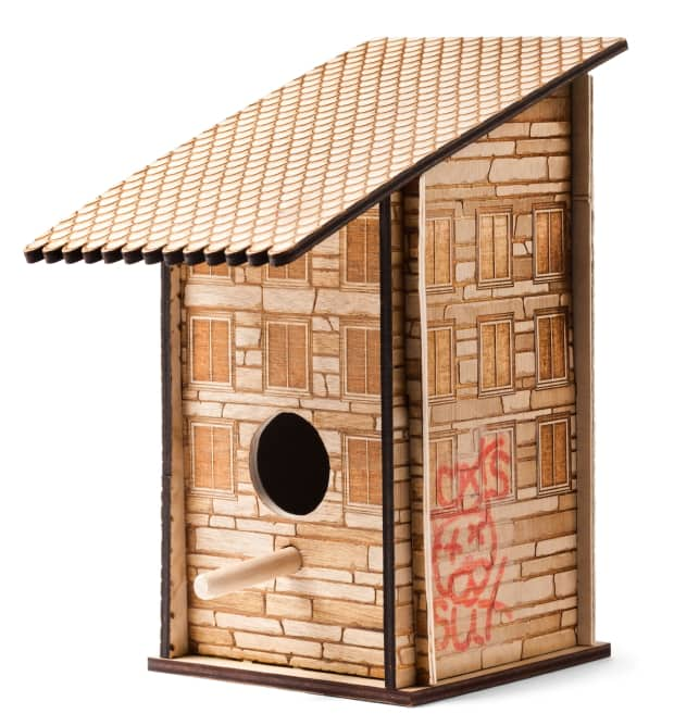 Graffiti birdhouse, One of a Kind Show