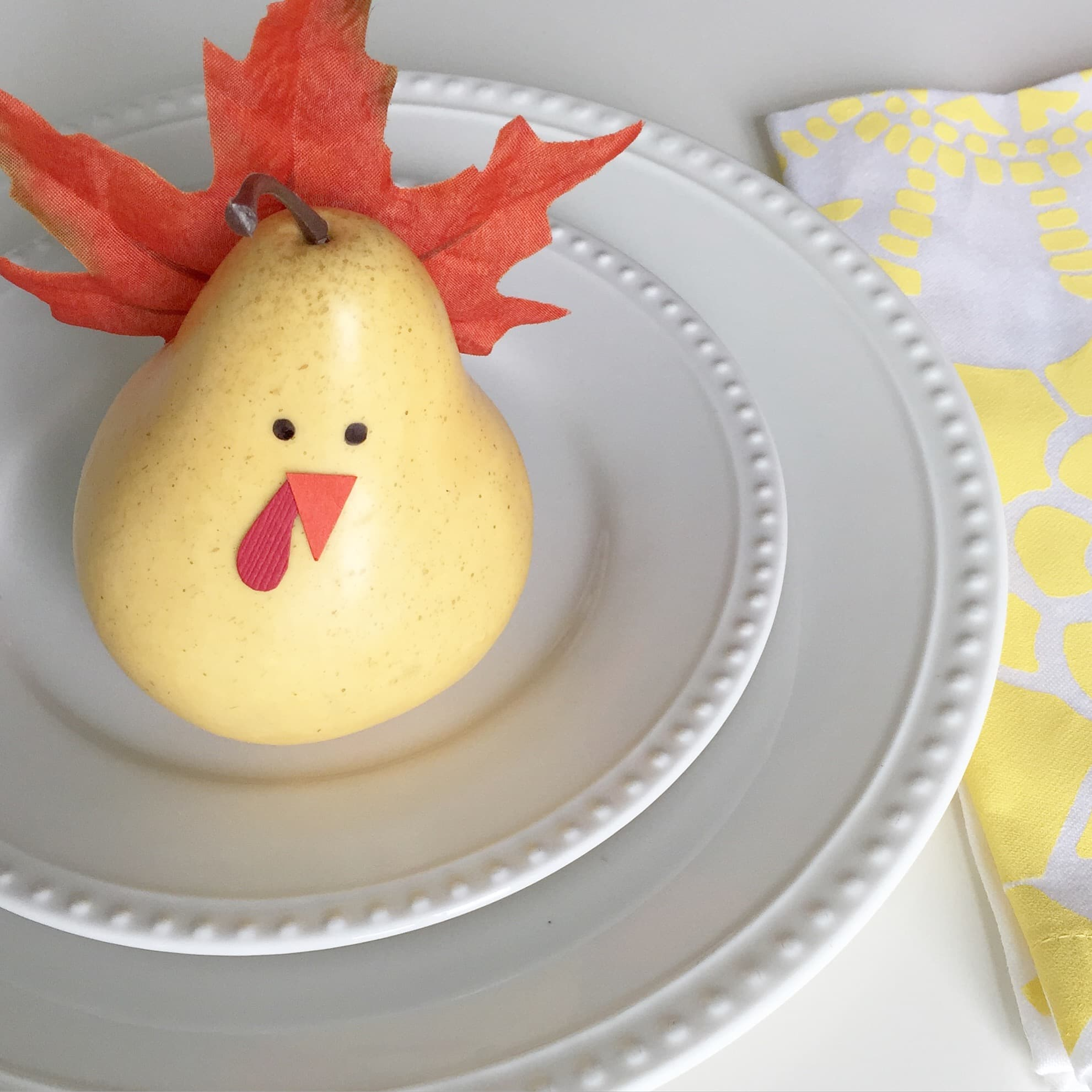 diy pear turkey craft