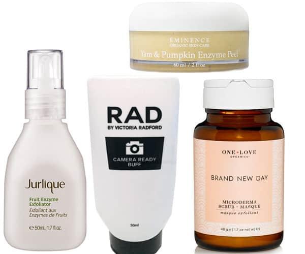 Enzyme exfoliators to treat acne