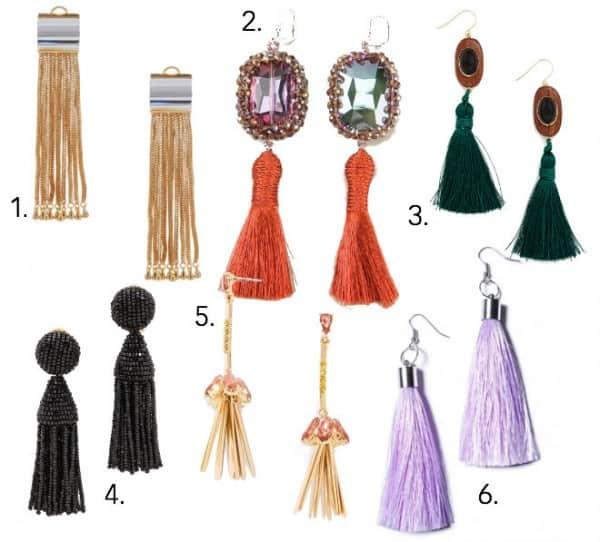 Tassel Earrings Roundup