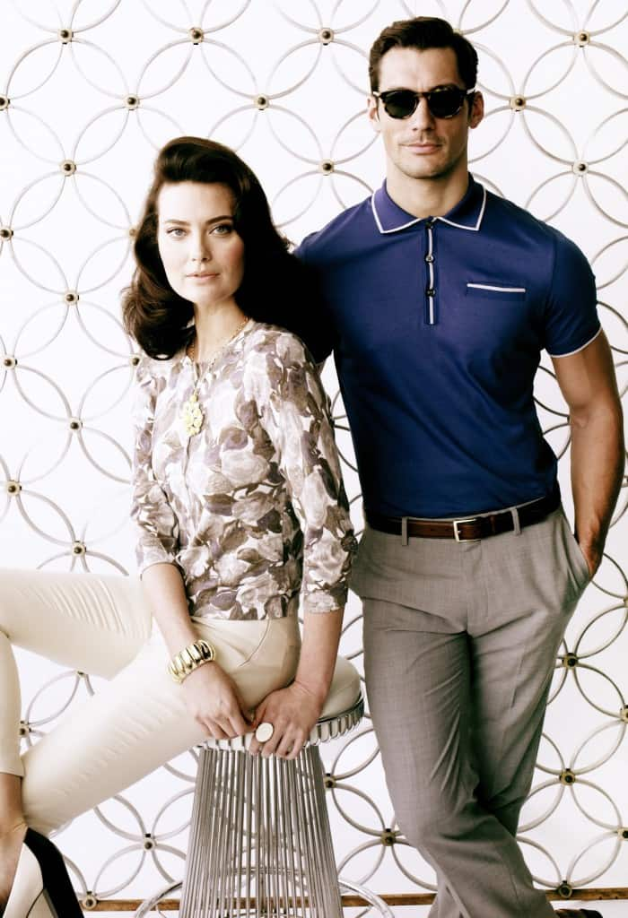 A look from the Banana Republic Mad Men Spring 2012 lookbook