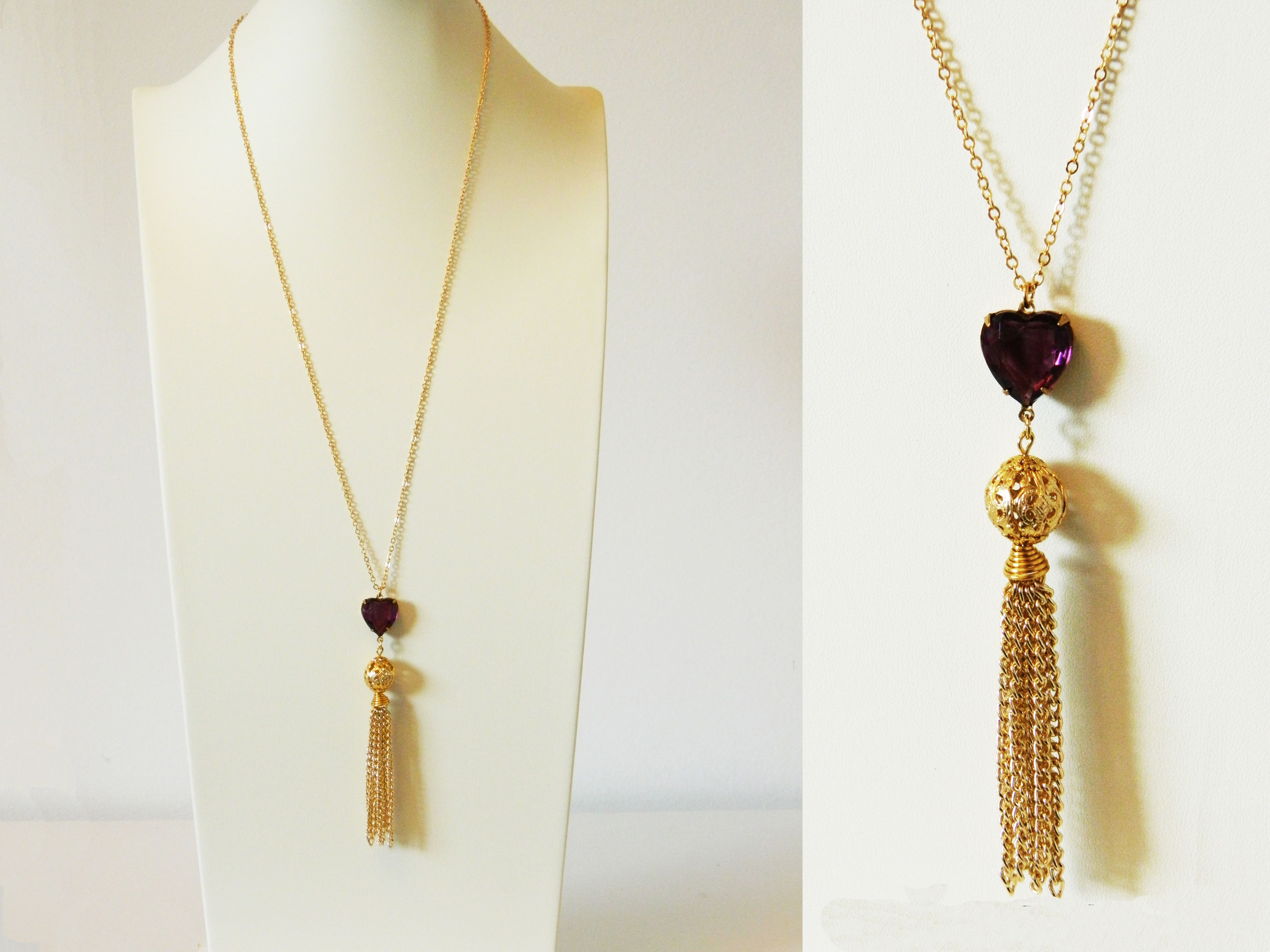 12 Canadian-made gift ideas for Mother's Day - Crystal-heart tassel necklace