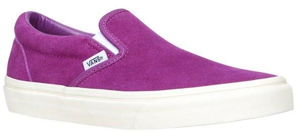 Purple Vans slip-on sneakers