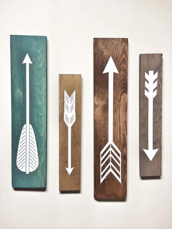 rustic white wooden arrows, 79$, cherrytreegallery, etsy.com/ca/shop/cherrytreegallery