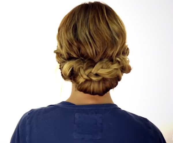 An image of an easy braided updo.