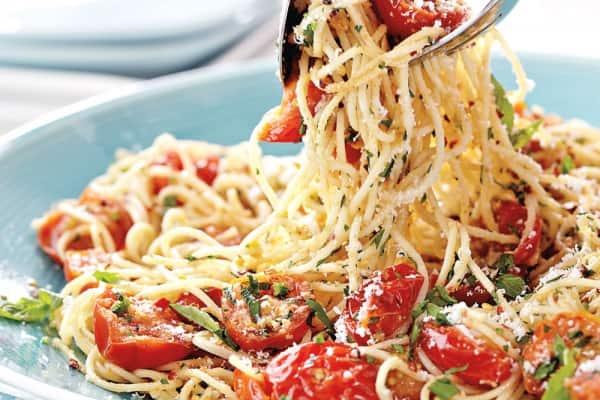 Seared Cherry Tomato Pasta