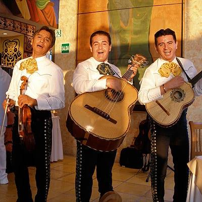 A serenade at the Villa Premiere Hotel