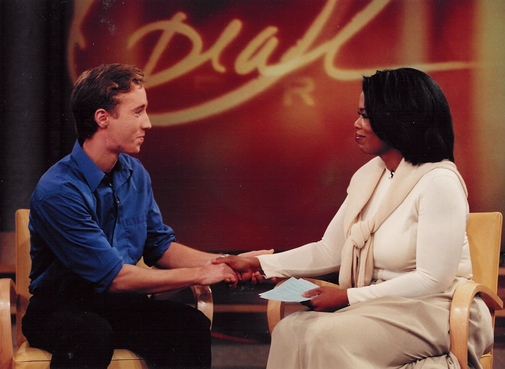Craig appears on the Oprah Winfrey Show; the partnership with Oprah's Angle Network has built more than 60 schools around the world.