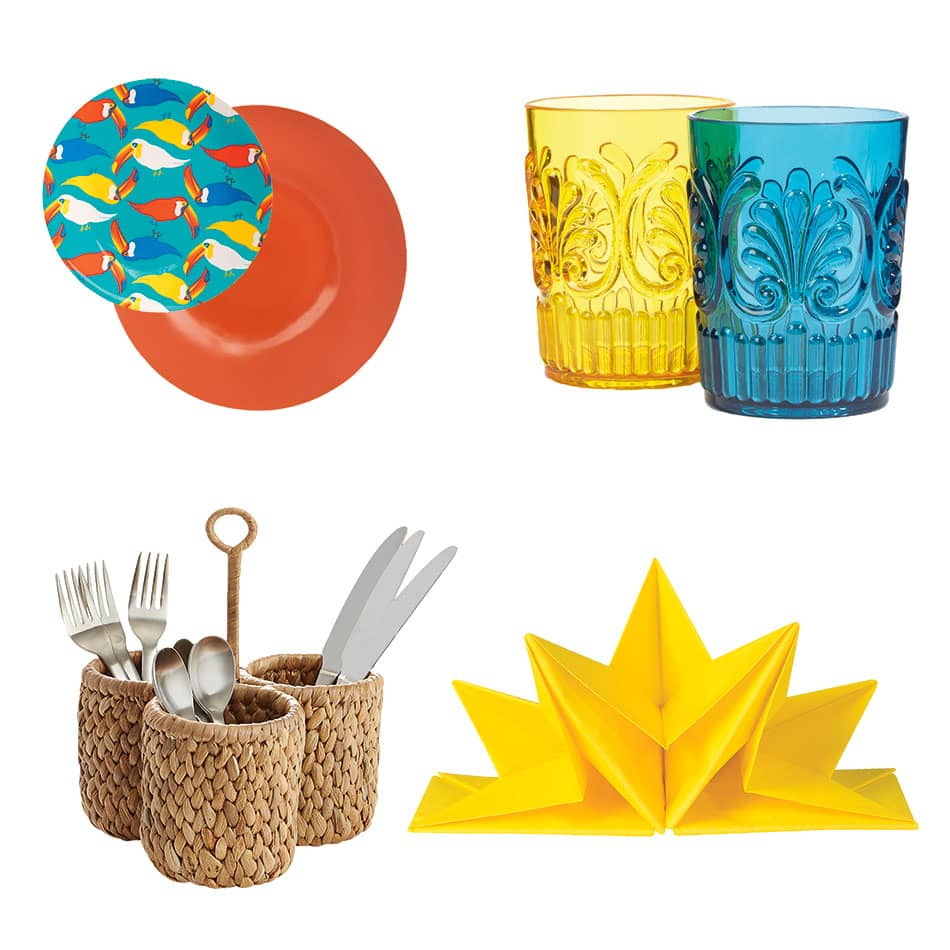 tropical cool tableware