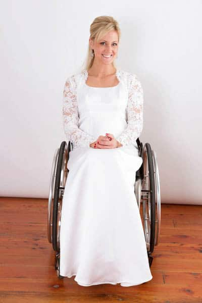 One-of-a-kind wedding gowns for brides in wheelchairs - Juliet Wedding Gown