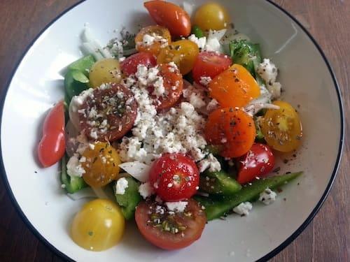 mini heirloom tomato salad