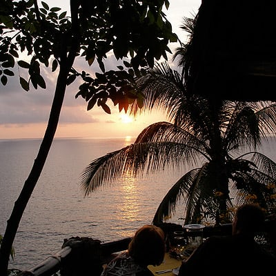 Watch the sunset from your perch at Le Kliff.
