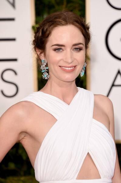 Emily Blunt hair 2015 Golden Globes
