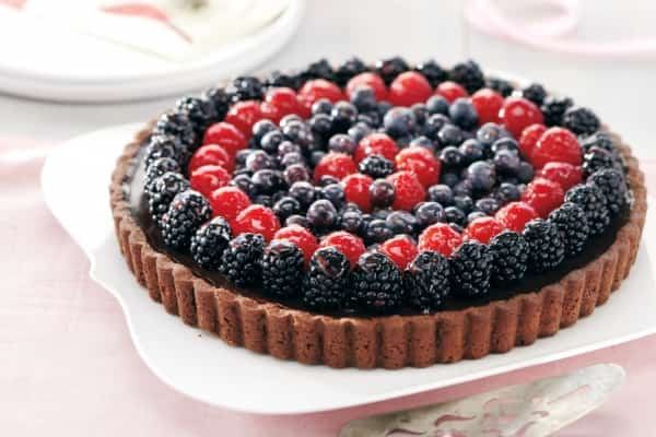 Triple Berry Chocolate Tart