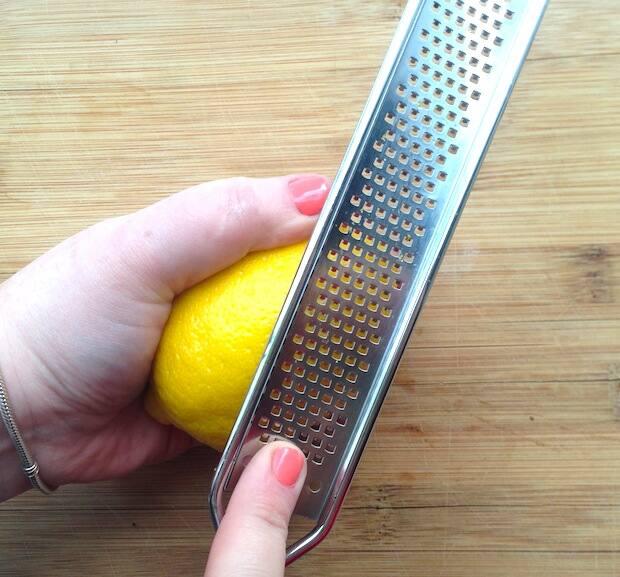 Lemon zesting 1