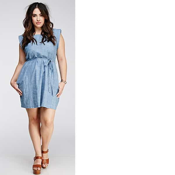 Denim plus-size dress from Forever 21