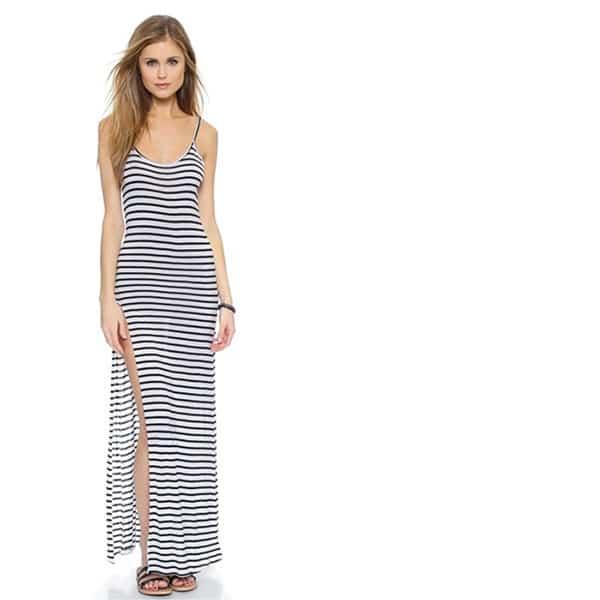 Blue Life striped maxi dress