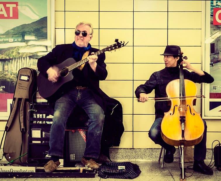 Subway station musicians