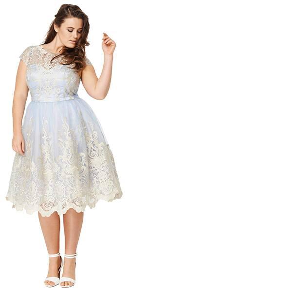 Chi Chi London lace plus-size dress