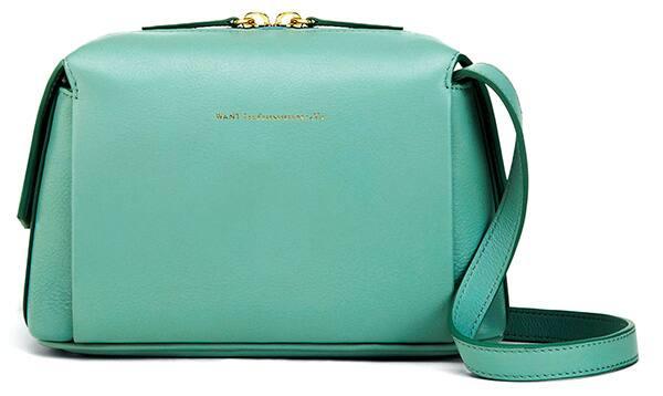 An image of a Want Les Essentiels de la Vie shoulder bag in turquoise.