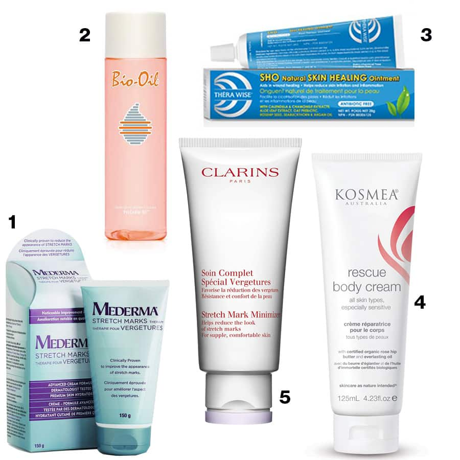 Stretch mark topical products