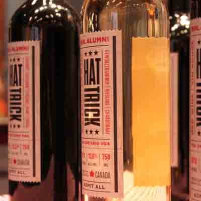 New! Hat Trick wines, made exclusively for the Hockey Hall of Fame