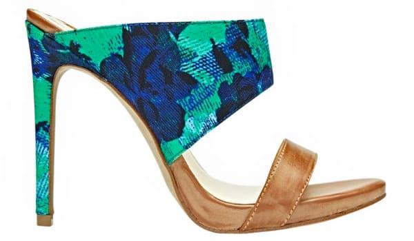 Floral mule high heels