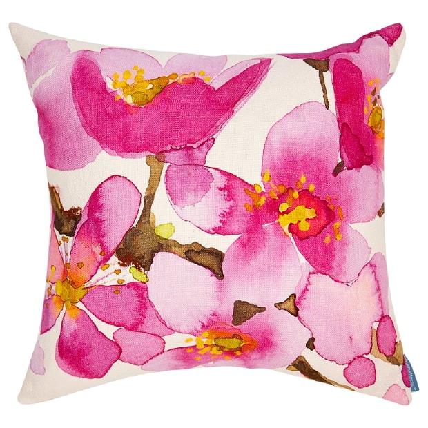 Indigo floral printed cushion