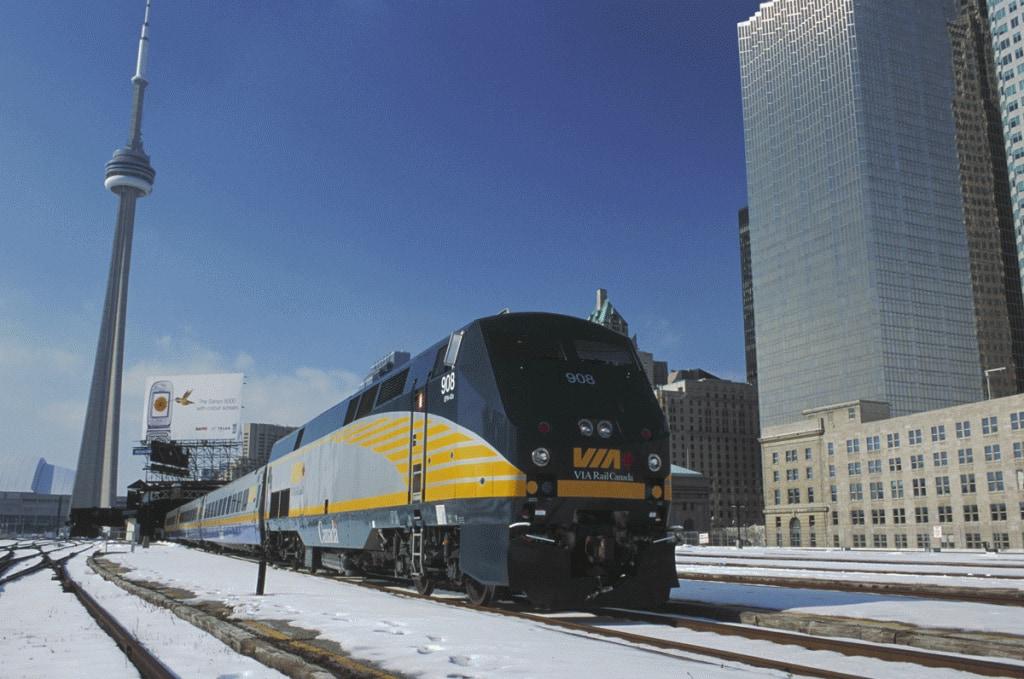 Via Rail heads out of Union Station, Toronto (Photo: VIA Rail Canada)