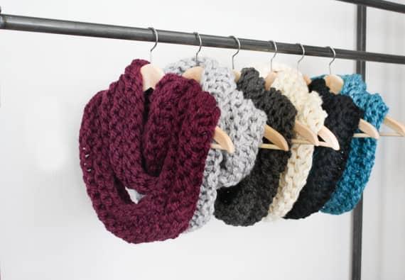 La Reserve Design chunky knit scarf, $49, etsy.com/ca/shop/LaReserve Design