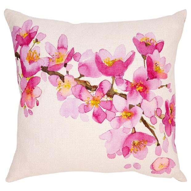 Indigo watercolour cushion