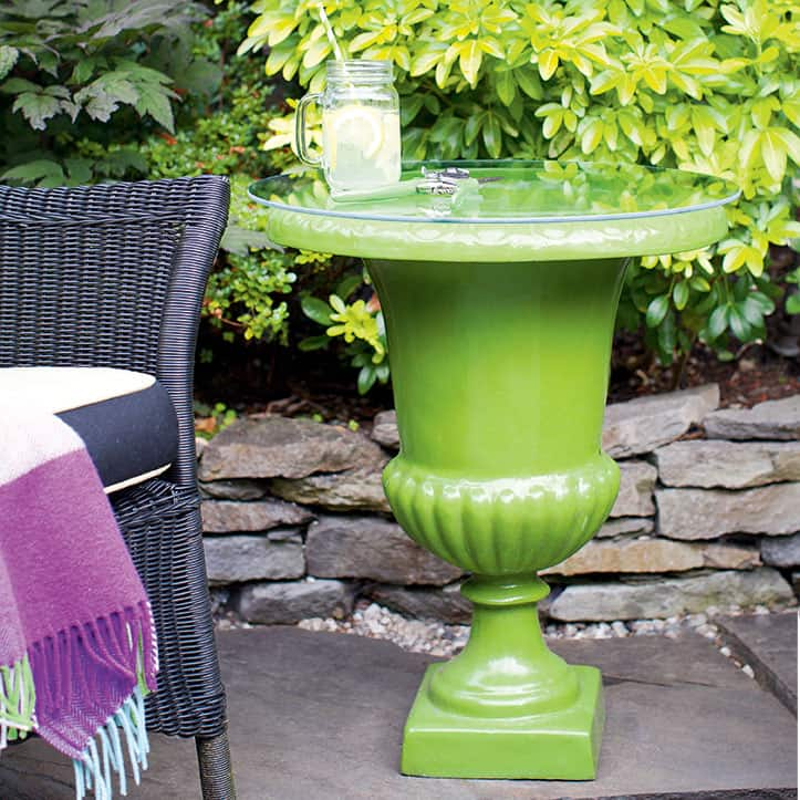 urn side table